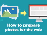 How to prepare photos for the web